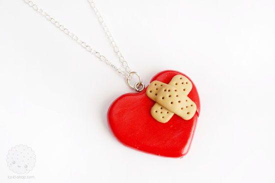 Broken Heart Necklace (PRE ORDER). $15.00, via Etsy.