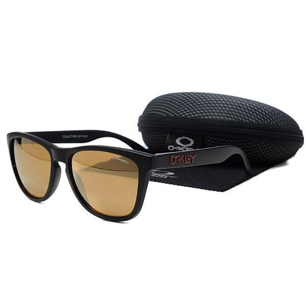 $12.98 Oakley Frogskins Sunglasses brown lens black frames-39672  Dealextreme www.oakleyssunglassesdealextreme.com