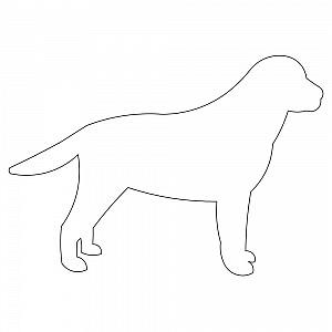 Lab Dog Outline 001 Dog Outline Animal Outline Lab Dogs
