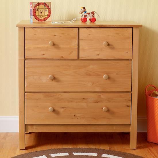 Kids Dressers 2 Over Drawer Natural Simple Dresser In