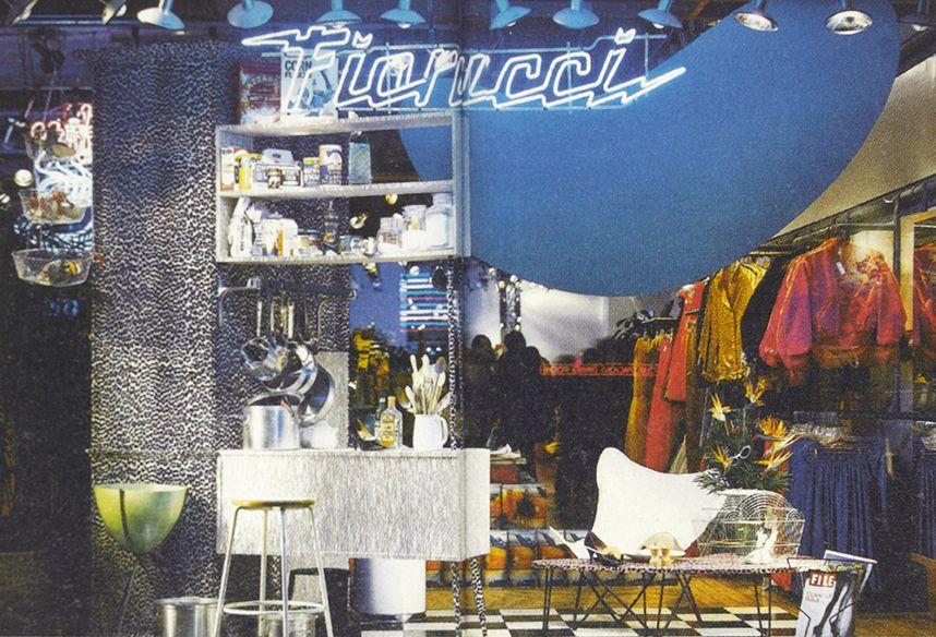 The interior of Fiorucci's New York store in 1976