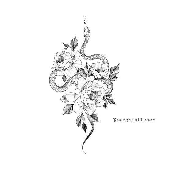 """s e r g e auf Instagram: """"? Zum Tätowieren verfügbar. Alle Rechte vorbehalten. Nicht kopieren!   Rose linework #flowertattoos - flower tattoos designs #tattoodrawings"""