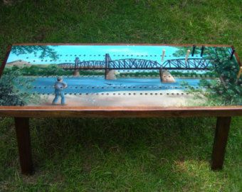 Charmant Cribbage Board Table With Accent Border The Guyu0027s By TheRightJack