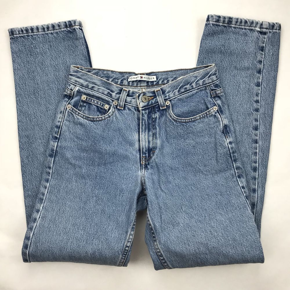 ef633285d2e8f Vintage Tommy Hilfiger Mom Jeans Perfect T Jean Size 2 Boyfriend Light Wash  90s