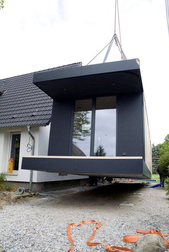 ihr neues zuhause wird schlsselfertig mit dem kran angeliefert und kann sofort bezogen werden individuell geplante modulhuser unter wwwbrett holzbaude - Buro Zu Hause Mit Seestuckunglaubliche Bild