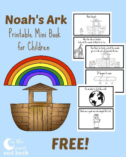 picture about Noah's Ark Printable called Totally free Printable Noahs Ark Mini Guide 1st / 2nd Homeschool