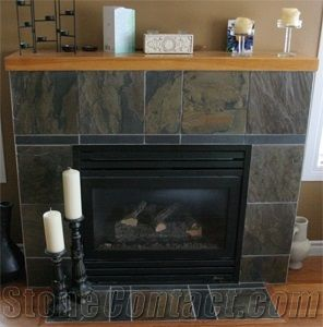 Tiled fireplace and Slate fireplace