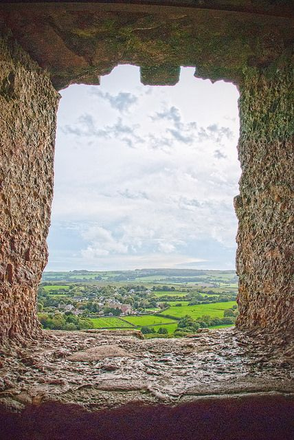 The view from on of the windows of Corfe Castle  Dorset,England