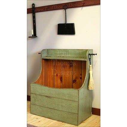 Shaker Firewood Box Firewood Storage Indoor Wood Storage Box Wood Storage
