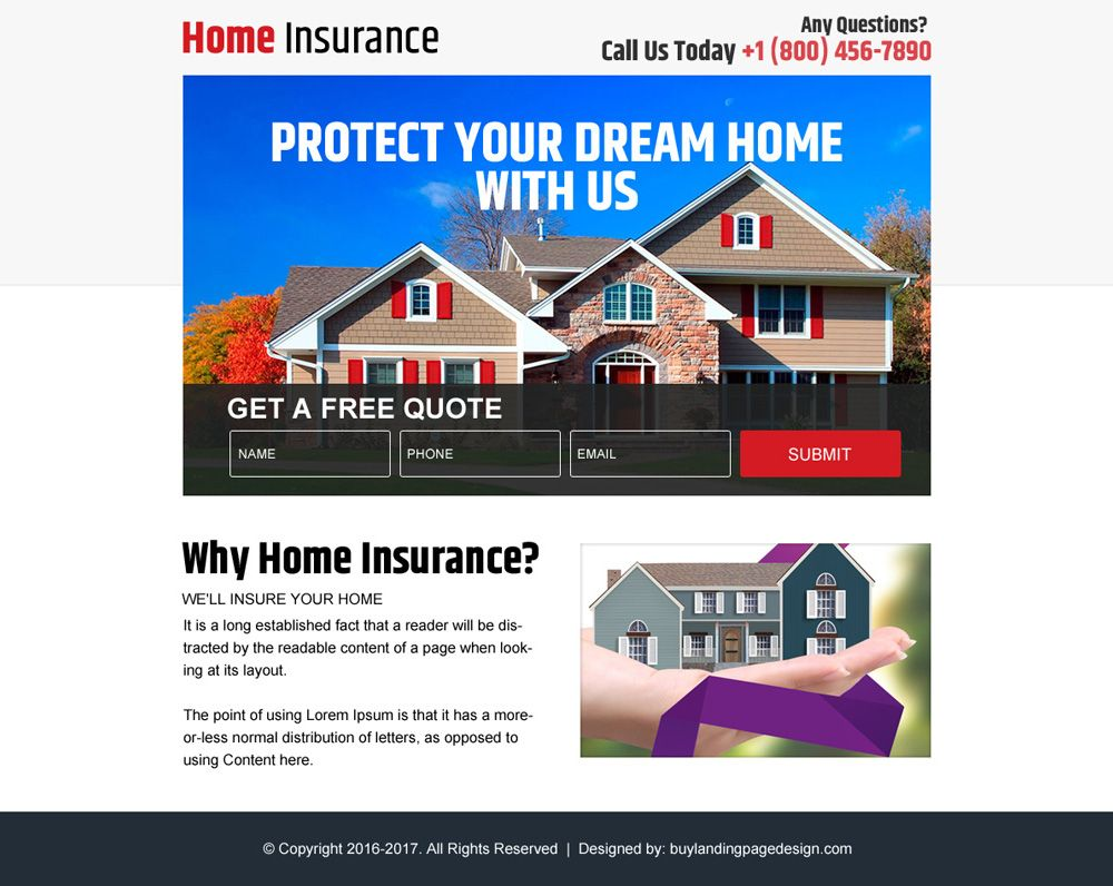 Pin By Landing Page Design On Home Insurance Ppv Home Insurance