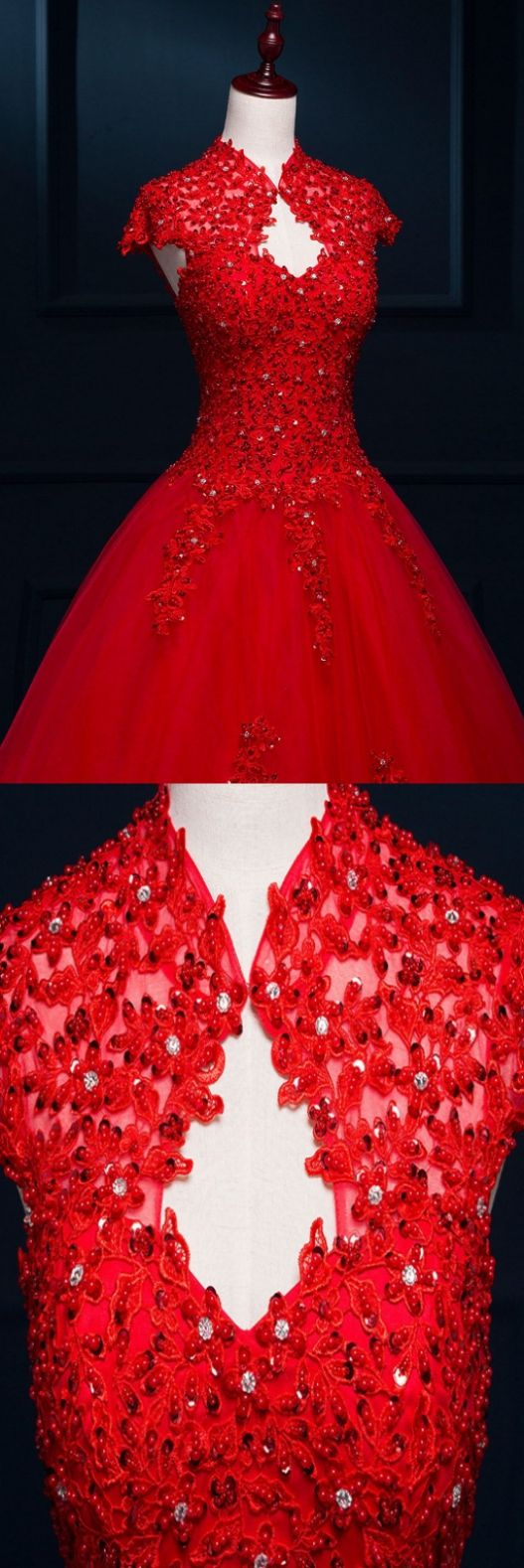 Bridal dresses red floor short red dresses and red wedding dresses