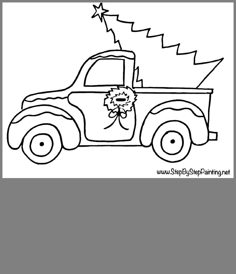Pin By Cathy Feyer Jager On Printable Subway Art Christmas Tree Coloring Page Christmas Tree Truck Tree Coloring Page