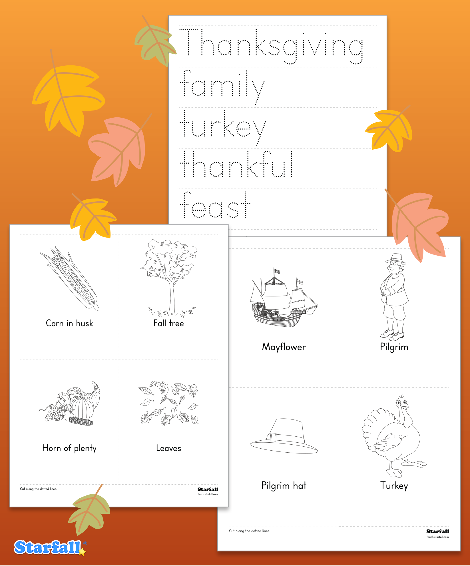 Customize Printouts For Your Students On The Starfall