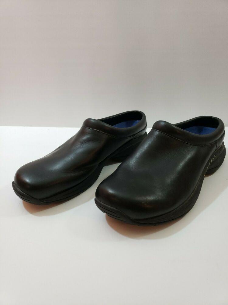 bd063cdb eBay Advertisement) Merrell Moc Black Leather Womens Shoes SZ 10 ...