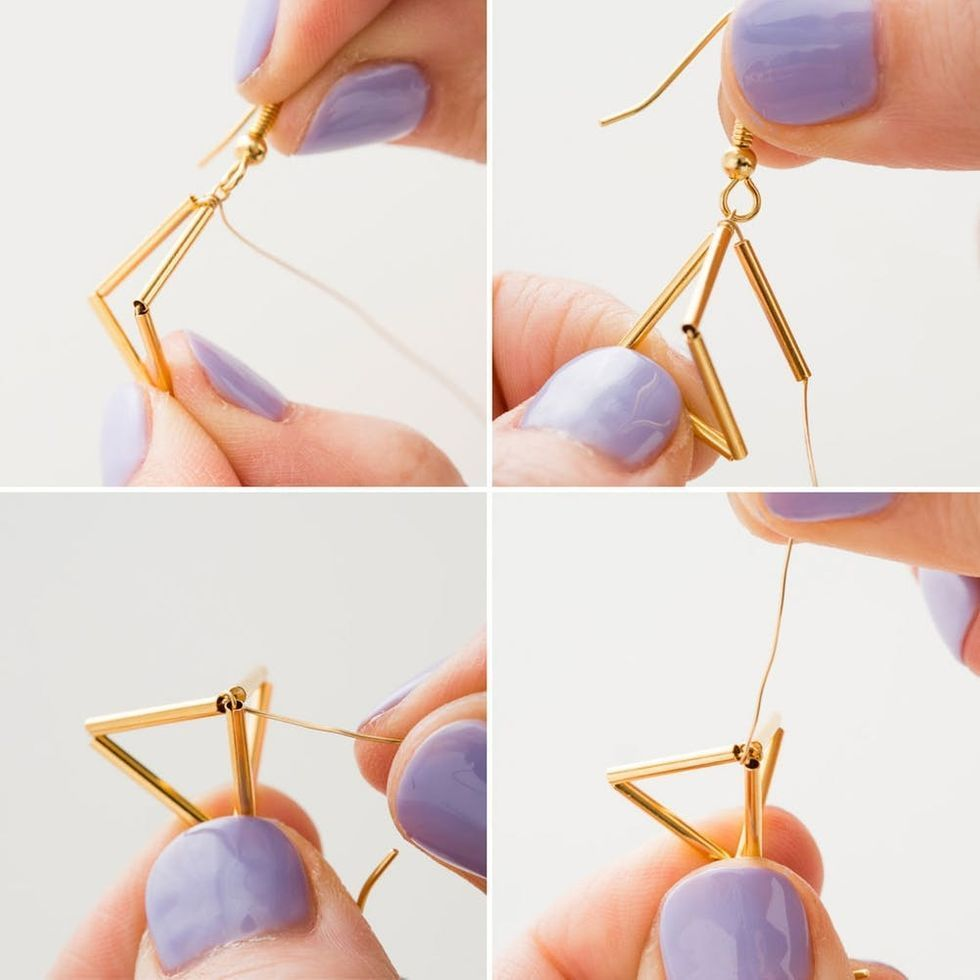 Get Geometric With This Modern Jewelry DIY  Get Geometric With This Modern Jewelry DIY  Brit  Co