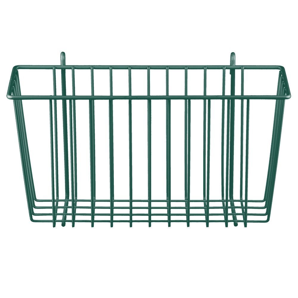 Metro H209-DHG Hunter Green Storage Basket for Wire Shelving 13 3/8 ...