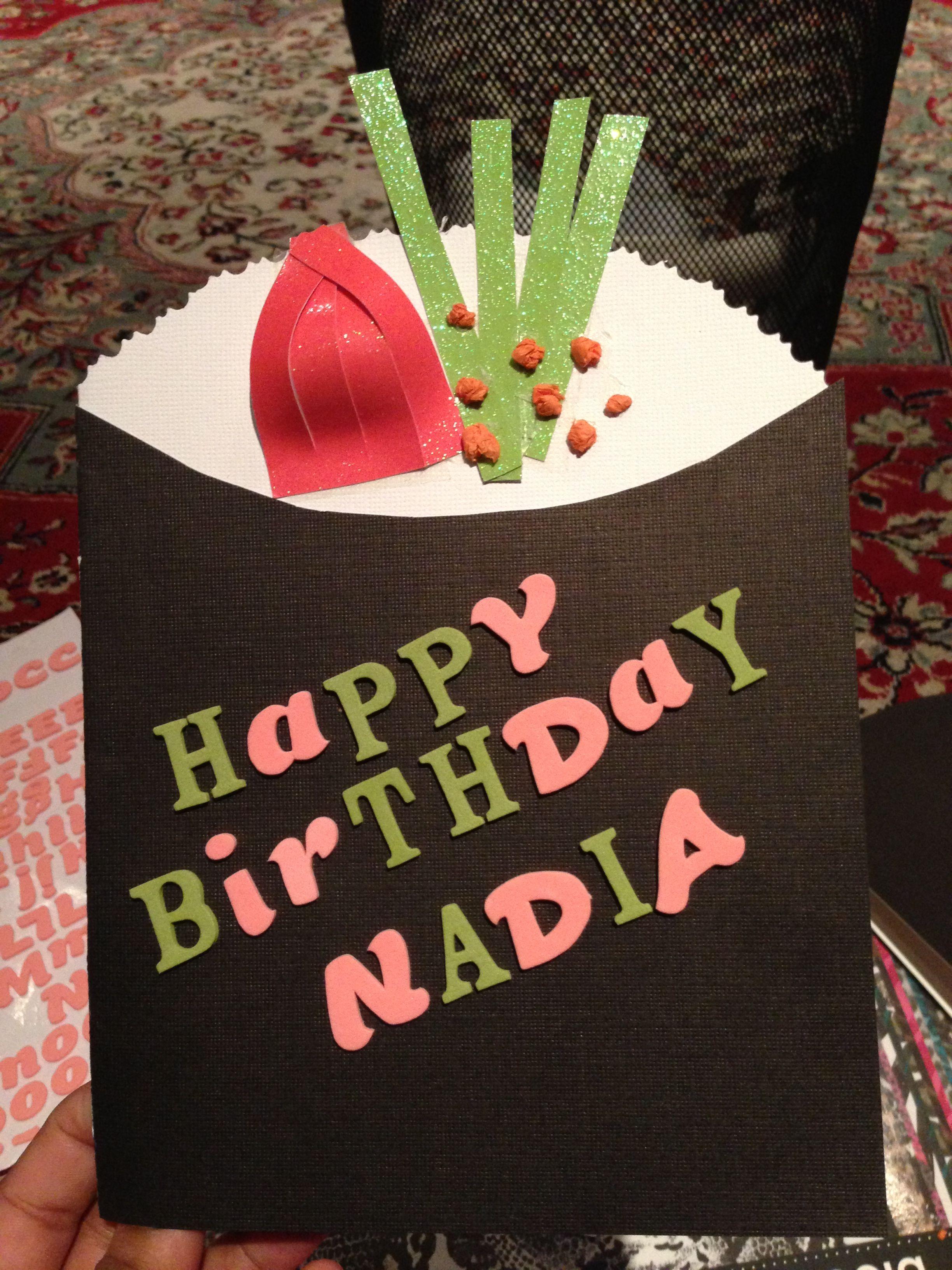 Handmade sushi Birthday card from me :)
