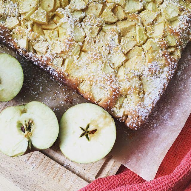 Birgit schreibt: Apfelkuchen vom Blech #Äpfelverwerten Birgit schreibt: Apfelkuchen vom Blech #Äpfelverwerten