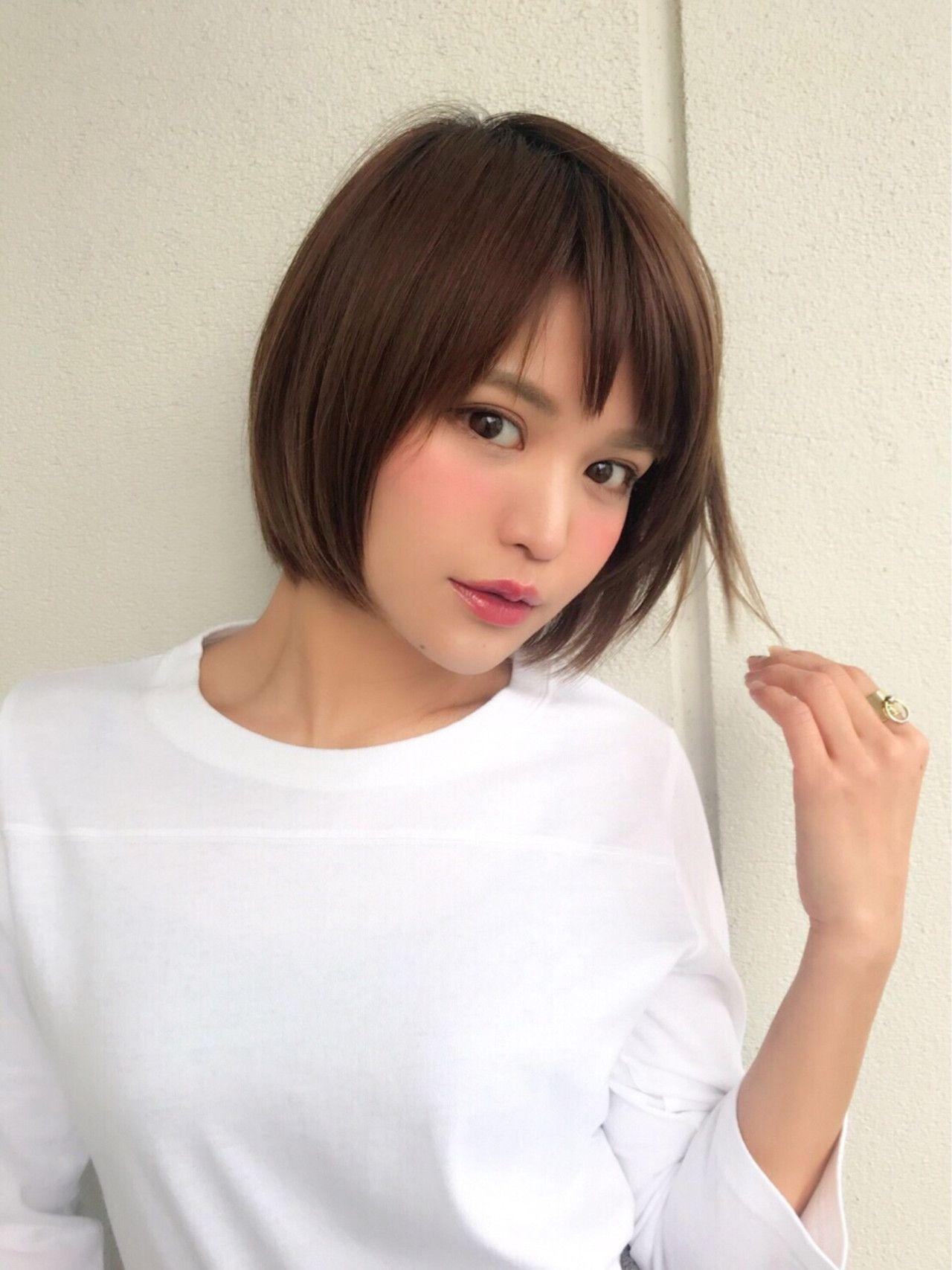 本田翼さん風ショート ストレートでもさまになる 髪型 ヘア