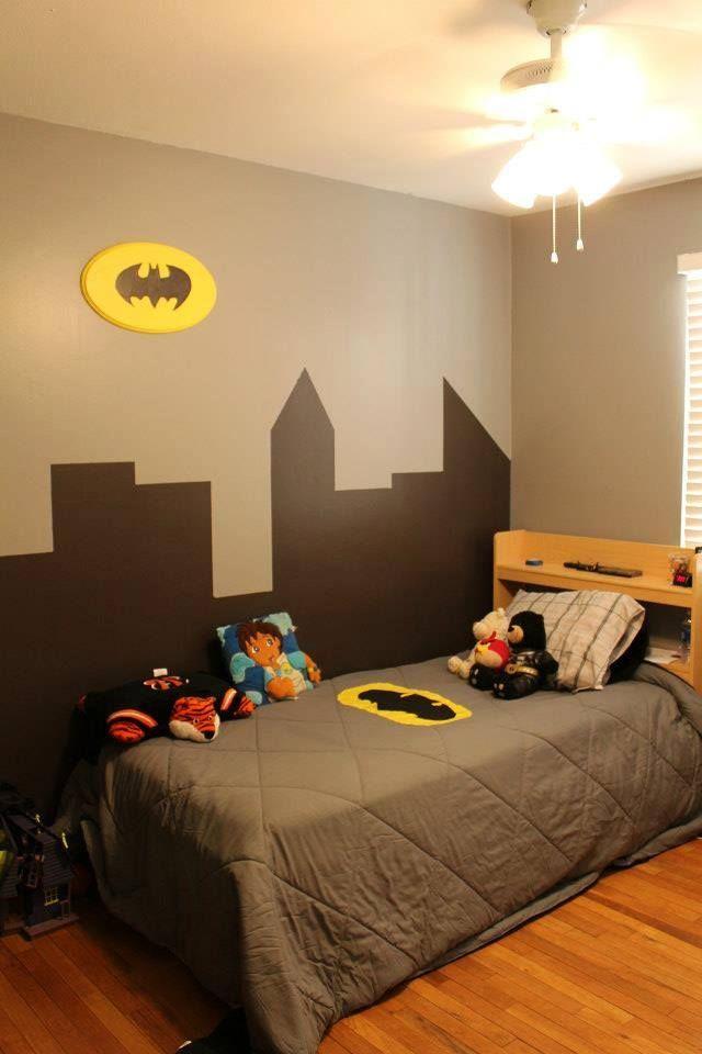 Batman room gotham city kid rooms pinterest batman for Kids batman room