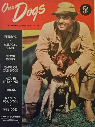 1942 Our Dogs Magazine With Clark Gable Clark Gable Mag