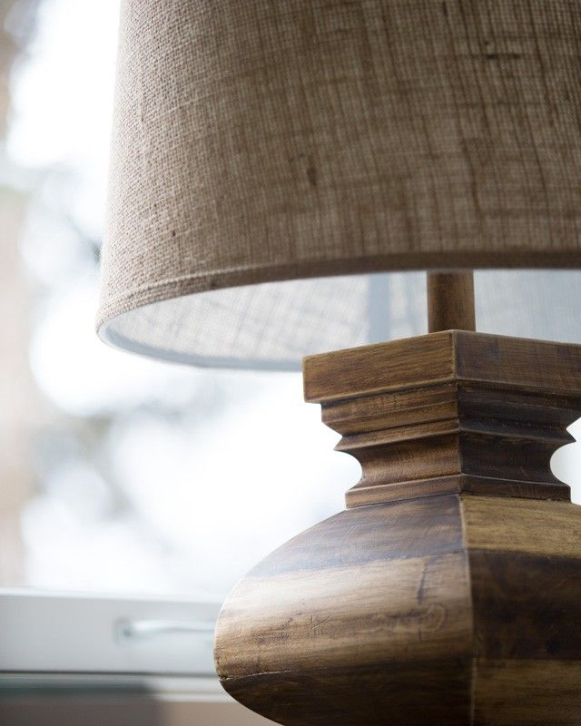 Lamp Works Fine Lighting Solid Wood Curved Block Lamp