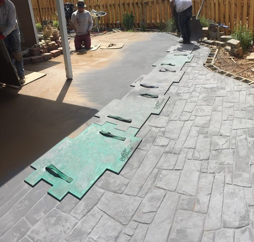 Stamped Concrete Color Combinations Stamped concrete