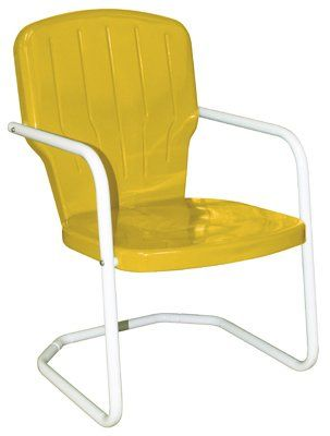 Amazon.com : Yellow Metal Lawn Chair : Childrens Furniture : Patio, Lawn U0026