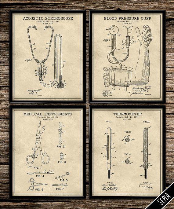 Vintage Patent Medical Set Vintage Prints | Patent Print