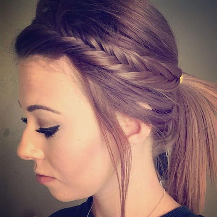 5 Cute And Functional Ways To Wear Your Hair To The Gym Braided Ponytail Hairstyles Braids For Black Hair Hair