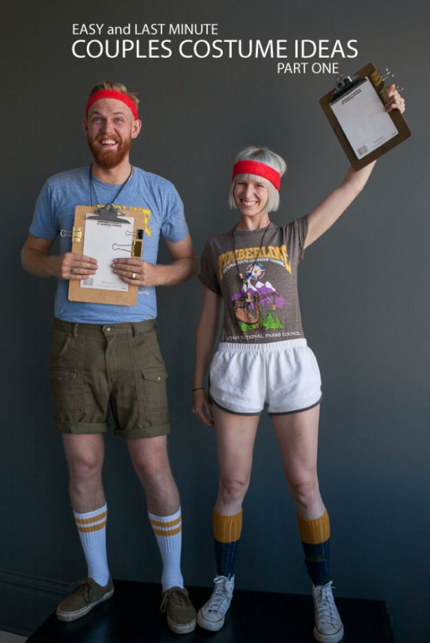 DIY Halloween Costumes for Couples - C& Counselors - Funny Creative and Scary Ideas for Parties College Party - Unique and Cute Project Idea for Disney ...  sc 1 st  Pinterest & 50 Best DIY Halloween Costumes for Couples | Couples camping Movie ...