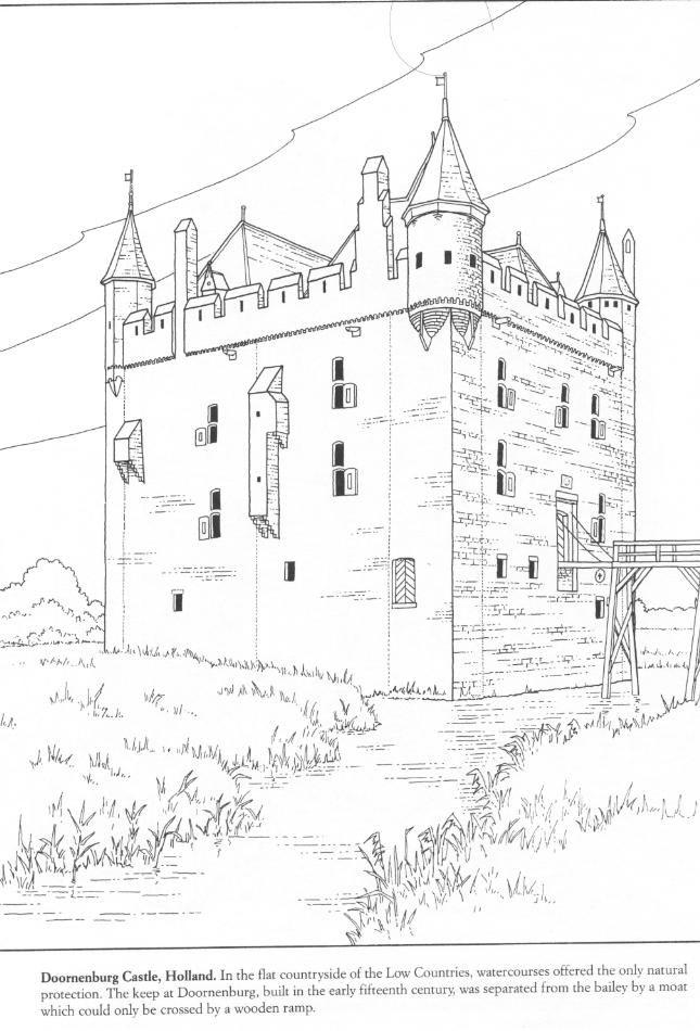 4 Castle Coloring Pages