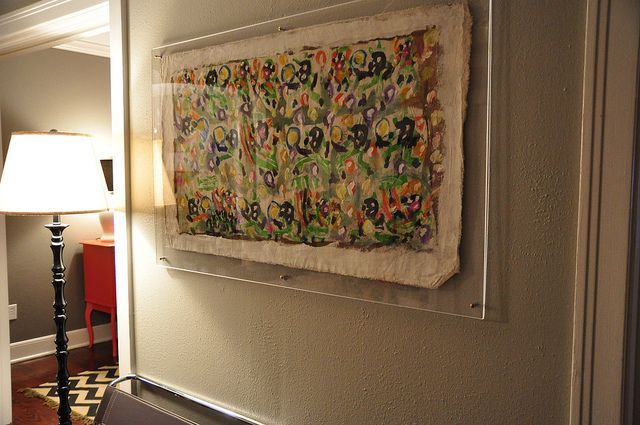 floating plexiglass frames - Google Search | wall solutions ...