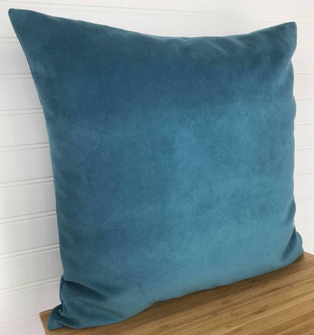 Blue Velvet Pillow Cover, Teal Velvet Pillow Cover, Blue Velveteen ...