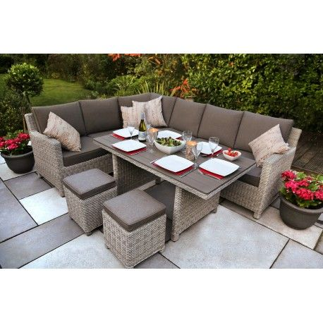Garden Furniture Kettler kettler palma corner set - whitewash | casual dining furniture