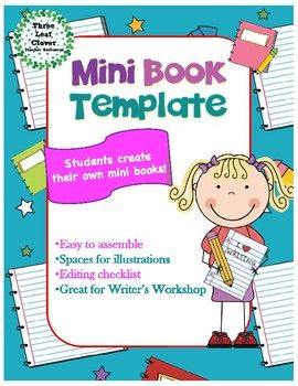 mini book template great for writer s workshop includes editing