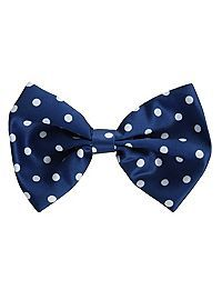 HOTTOPIC.COM - Blue And White Polka Dot Hair Bow