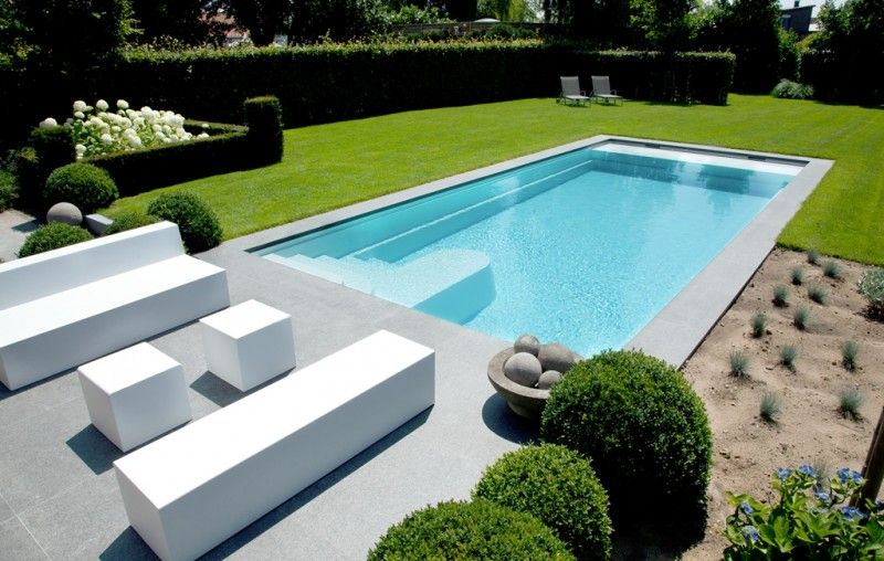 Hellende tuin met zwembad google zoeken tuin pool for Zwembad houtlook
