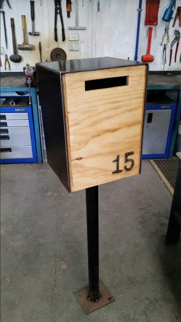 Letterbox Steel And Plywood Letter Box Design Letter Box Modern Mailbox