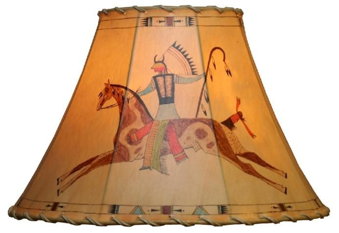 Indian war chief hand painted rawhide leather lampshade fltog indian war chief hand painted rawhide leather lampshade fltog chief very unique aloadofball