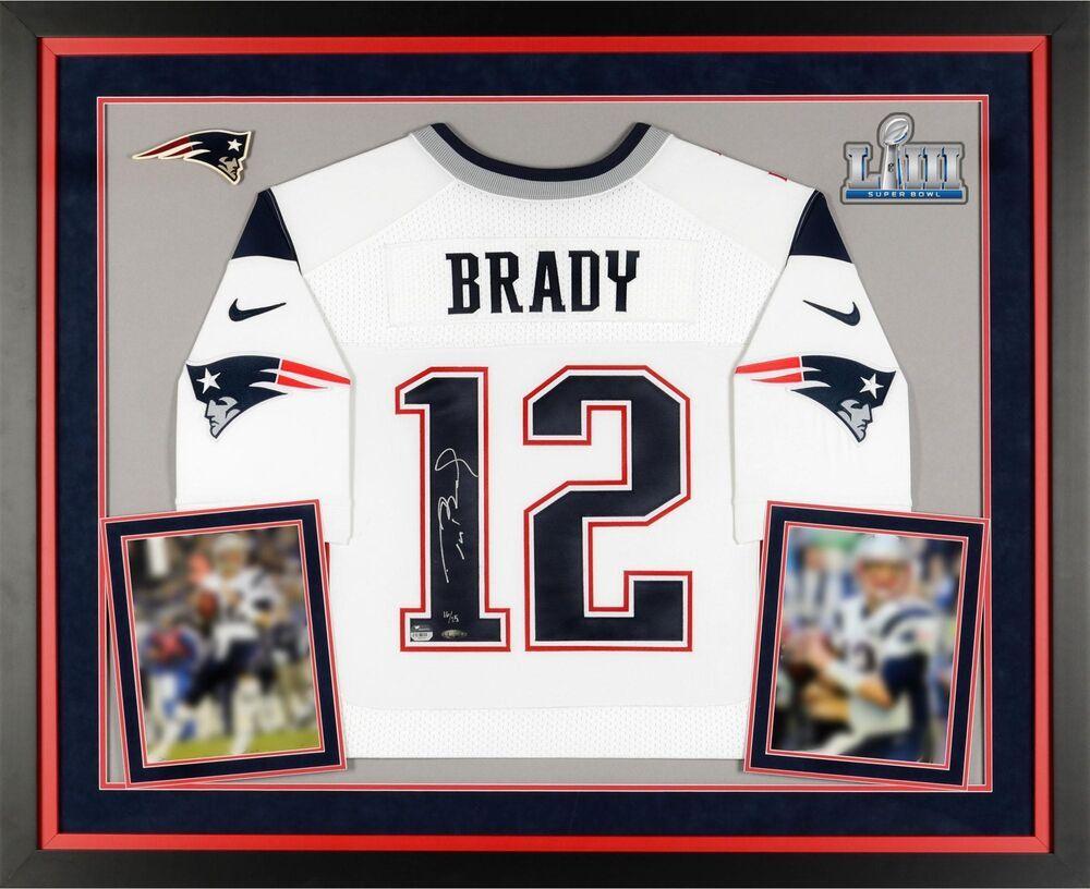 Tom Brady NE Patriots Super Bowl LIII Champs Dlx Frmd