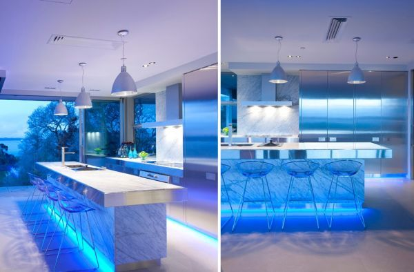Using LED Lighting In Interior Home Designs Countertops Wall