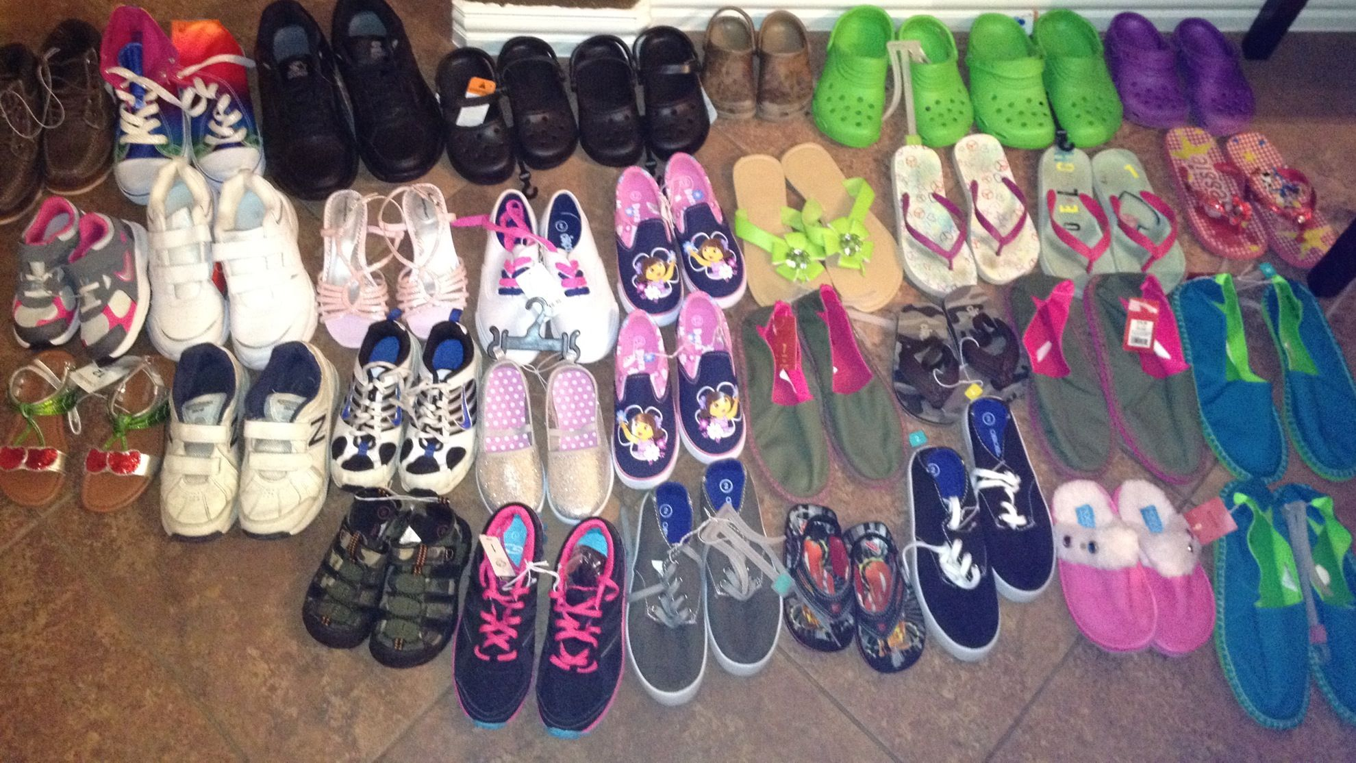 Thirty Four pairs and counting.... In lieu of gifts my 3rd grader  - Sydney decided to ask for shoes to donate to the children at SAMM's Ministry Transitional Living. I normally would not share this, but what a great way to bless others on your own birthday.