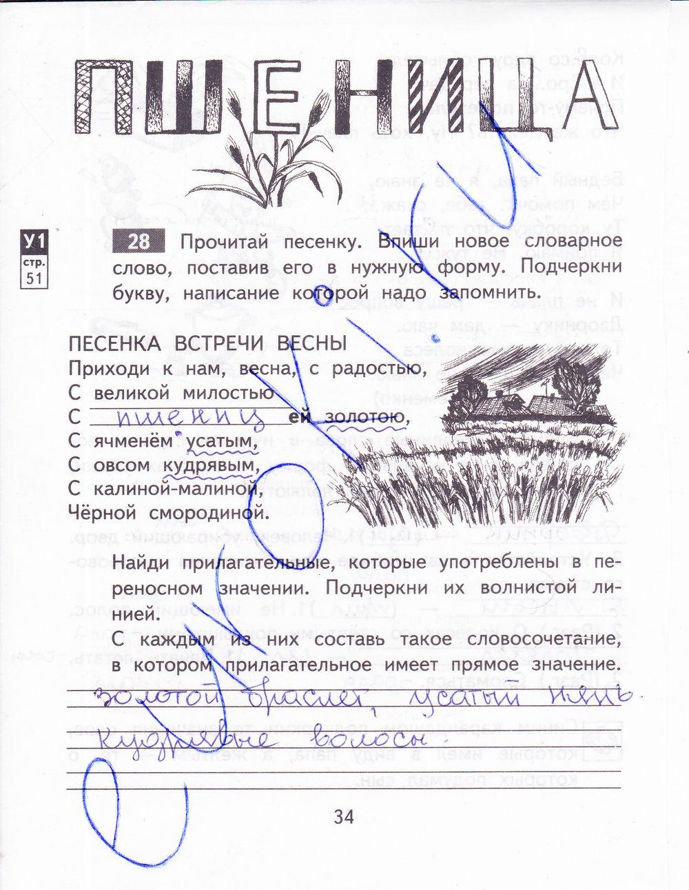 Ответы домашнее задание по русскому языку 4класс зеленина