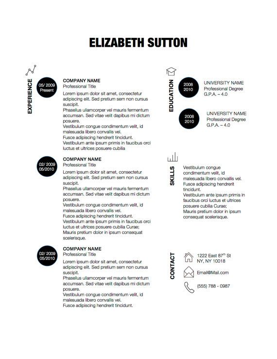 dots simple modern unique resume template for microsoft