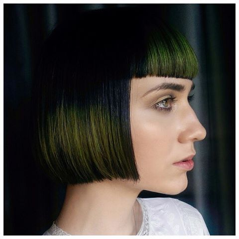 Symbolizing growth, rejuvenation and revitalization, Pantone's 2017 color of the year, Greenery, is meant to celebrate new beginnings! 🎉Aveda's @ianmichaelblack global artistic director, hair color, is already showing how to embrace the 2017 Color of the Year in beauty. He used the eclipting technique and color by @Aveda to create the pops of Greenery on this chic, blunt bob. Click our BlO link for more info!