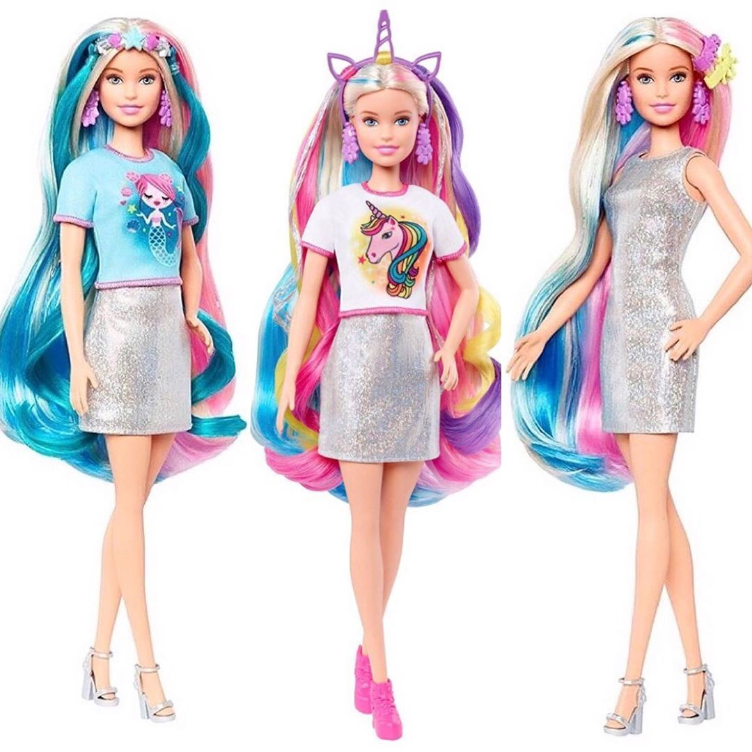 Awesome Barbie Rainbow Sparkle Hair Doll Argos wallpapers to download for free greenvirals