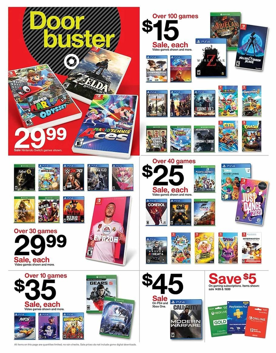 Target Black Friday Ad Scan Deals And Sales 2019 Black Friday Target The Game Is Over Black Friday Offers