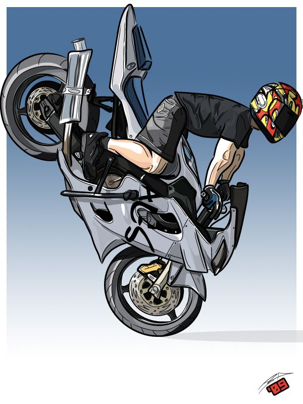 Me As A Cartoon Thanks To J20 Bike Sketch Motorcycle