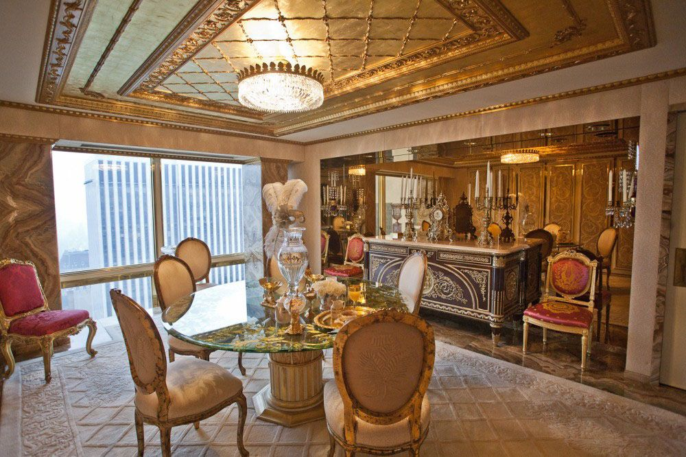 Inside Donald and Melania Trump's Manhattan Apartment Mansion | iDesignArch | Interior Design, Architecture & Interior Decorating